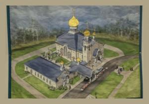 Вид Храма и трапезной